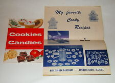 Unique Blue Ribbon Bakeware Favorite Cooky Recipes + Promo Karo Candies Cookbook