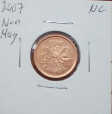 2007 LOGO NONE MAGNETIC CANADIAN 1 CENT (FINISH : MS-65 NC; RED)