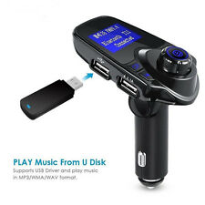 Bluetooth Car FM Transmitter Wireless Radio Adapter USB Charger Mp3 Player G