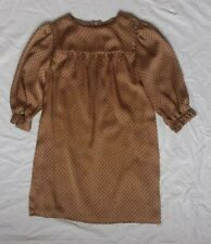 Stunning Miss Grant Girls Dress Lined Size 128/134  Age 9/10 Years Brown Italian