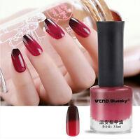 7.5ml Color Changing Nail Polish Temperature Thermal Rouge Red Varnish#04
