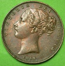 "UK Great Britain Angleterre Farthing 1850 Monnaie Fauté double ""5"" ERROR"