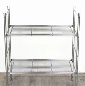 Regal Metall für Küche Keller Gitterböden 77 cm hoch 33 cm tief versch. Breiten