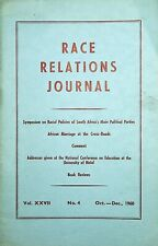 More details for race relations journal vol. xxvii no. 4 oct-dec 1960 s africa politics marriage