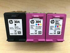 HP 304 Genuino 1x Negro/2x Tri-Color Cartuchos de tinta vacíos