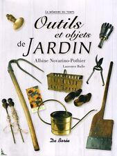 Outils et objets de jardin, livre de Novarino-Porthier