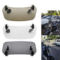 Motorcycle Adjustable Clip-On Windshield Extension Spoiler Windscreen Deflector