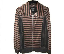 New Calvin Klein Womens Casual Sport Jacket Brown-Gray Small $69.50