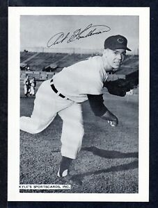 1955 Art Houtteman INDIANS UNSIGNED  6-1/2 x 9  TEAM ISSUE PICTURE PACK PHOTO #1