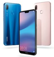 "Huawei P20 Lite ANE-LX3 Dual Sim (FACTORY UNLOCKED) 5.8"" 4GB RAM Black Blue Pink"