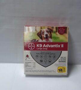 K9 ADVANTIX II LARGE DOG 21-55 LBS 2 DOSES NEW #0716