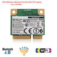 Intel Wireless Wifi Bluetooth 4.0 Network Card Mini PCI-E 300Mbps For DELL ASUS