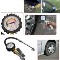 Tyre Pressure Inflator Air Gun Compressor Gauge Dial Airline Car Van