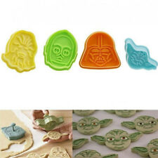 4pcs Character Plunger Cutter Decor Fondant Star Wars Cake Cookie Mold Tool New