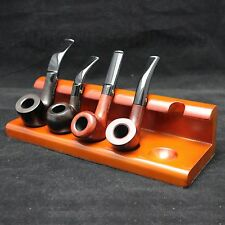 Smoking/Tobacco Pipe Stand/Rack/Holder Holds 5 Pipes Top Redwood
