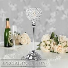 Crystal Candle Tea Light Holder Silver Wedding Table Decor 43