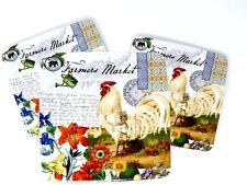 """Michel Design Farmers Market Dessert/Appetizer Paper Plates 24 pcs 7.5"""" Square"""
