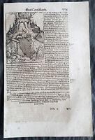 1628 Munster Antique Print Rotteln Castle & Augusta Raurica, Roman Ruins, Basel