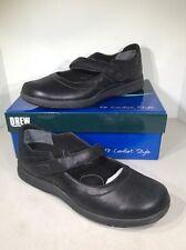 Drew Endeavor Women's Sz 13M Dusty Black Leather Comfort Mary Jane Shoes X3-500