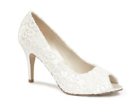 Paradox London Pink Cosmos Ivory Peep Toe Shoes UK 7 EU 40 JS39 20