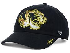 the latest 4091a 3e93b MISSOURI TIGERS 47 BRAND NCAA GOLD SPARKLE ADJUSTABLE BLACK HAT CAP OSFM