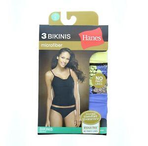 Hanes Microfiber Bikini Underwear Women's Panties, Assorted Colors, 42M3AS