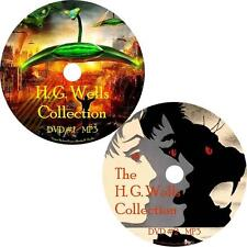 H. G. Wells Sci-Fi Audio Book Collection on 2 MP3 DVDs War Invisible FREE SHIP