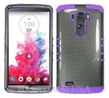 For LG G3 - KoolKase Hybrid Impact Silicone Cover Case - Carbon Fiber