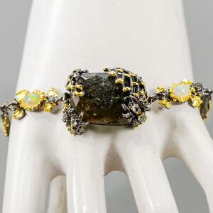 """Vintage Agate Bracelet 925 Sterling Silver  Inches 9""""/BR05387"""