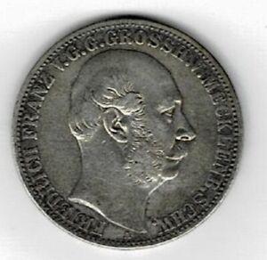 Ein Vereinsthaler 1867 A Friedrich Franz Grossherzog v. Mecklenburg Schwerin