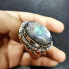 Fashion Women 925 Silver Party Jewelry Wedding Oval Cut Sapphire Ring Size 6-13
