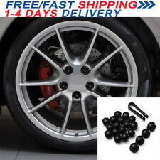 17mm Wheel Nut Deep Cover Bolt Cap For VAUXHALL ASTRA CORSA COMBO Black New
