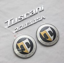 TUSCANI 2.7 ELISA Hood Rear T Logo Emblem Set 4pcs For Hyundai Tiburon Coupe