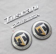 TUSCANI 2.7 ELISA Hood Rear T Logo Emblem Set 4pcs For Hyundai Tiburon Coupe