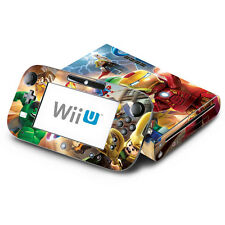 Super Heroes - Nintendo Wii U & GamePad Skin Decal Sticker Vinyl Wrap