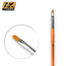 AK Interactive AK609 Pennello piatto misura 2 per la miscelazione, dissolvenza & Strisce