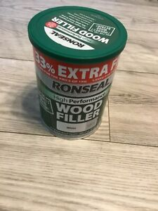 Ronseal high performance wood filler white new 1kg 2 part