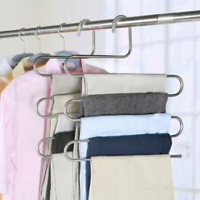Pants Trousers Hanging Clothes Hanger 5 Layers Storage Organization Space Saving
