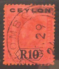 CEYLON 1923 G.V 10R SG318b Die II Cat £180 NJ427