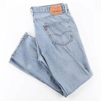 LEVI'S 505 Blue Denim Regular Straight Jeans Mens W35 L32