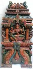 Hindu Temple Gopuram Saraswati Devi Sculpture Saraswathy Statue Wall panel decor