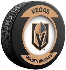 Vegas Golden Knights Official NHL Retro Logo Souvenir Hockey Puck