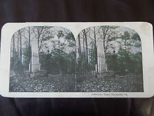 "c.1895 COLOUR 3d STEREOGRAPH/ STEREOGRAM PHOTO     ""Jefferson`s Tomb..."" USA"