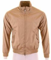 MARINA YACHTING Mens Bomber Jacket IT 46 Small Brown Polyester  NQ25