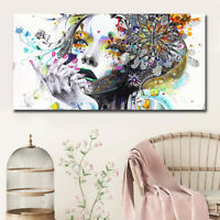 Beautiful Flower Girl Painting Canvas Wall Art Posters Print Pictures Home Decor