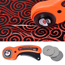 Fabric Quilting Sewing Craft Tool 45mm Rotary Cutter Quilter w/10 Cutting Blade