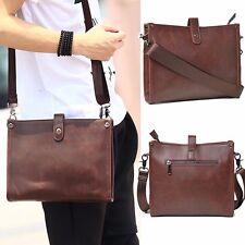 Men's Leather Messenger Shoulder Bag Briefcase Laptop Handbag Crossbody Satchel