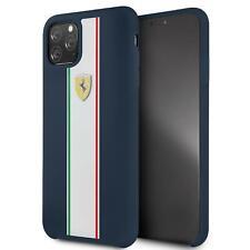Ferrari Duro Funda De IPHONE 11 Pro Max Silicona Azul Marino Gota Protección