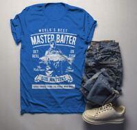Men's Funny Fishing T-Shirt World's Best Master Baiter Vintage Shirt