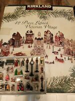 Kirkland Signature 42 pieces Christmas Lighted Victorian Village Vintage 1996